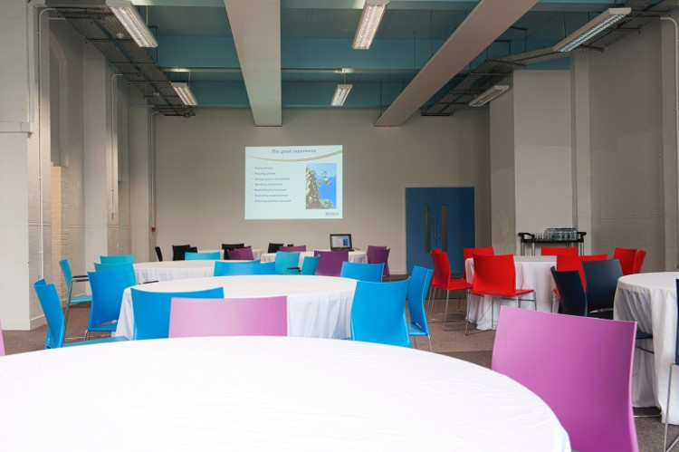 Large white wall perfect for presentations