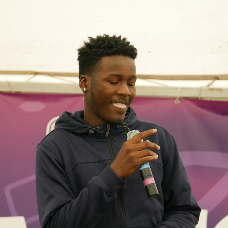 J Cook performing at Go Islington Festival