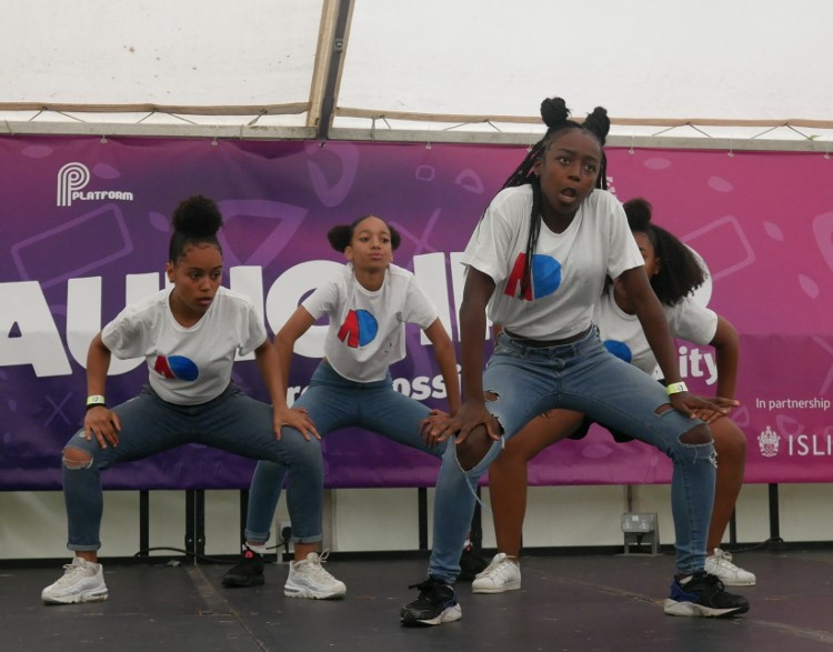 Performing at Go Islington festival, Highbury Fields