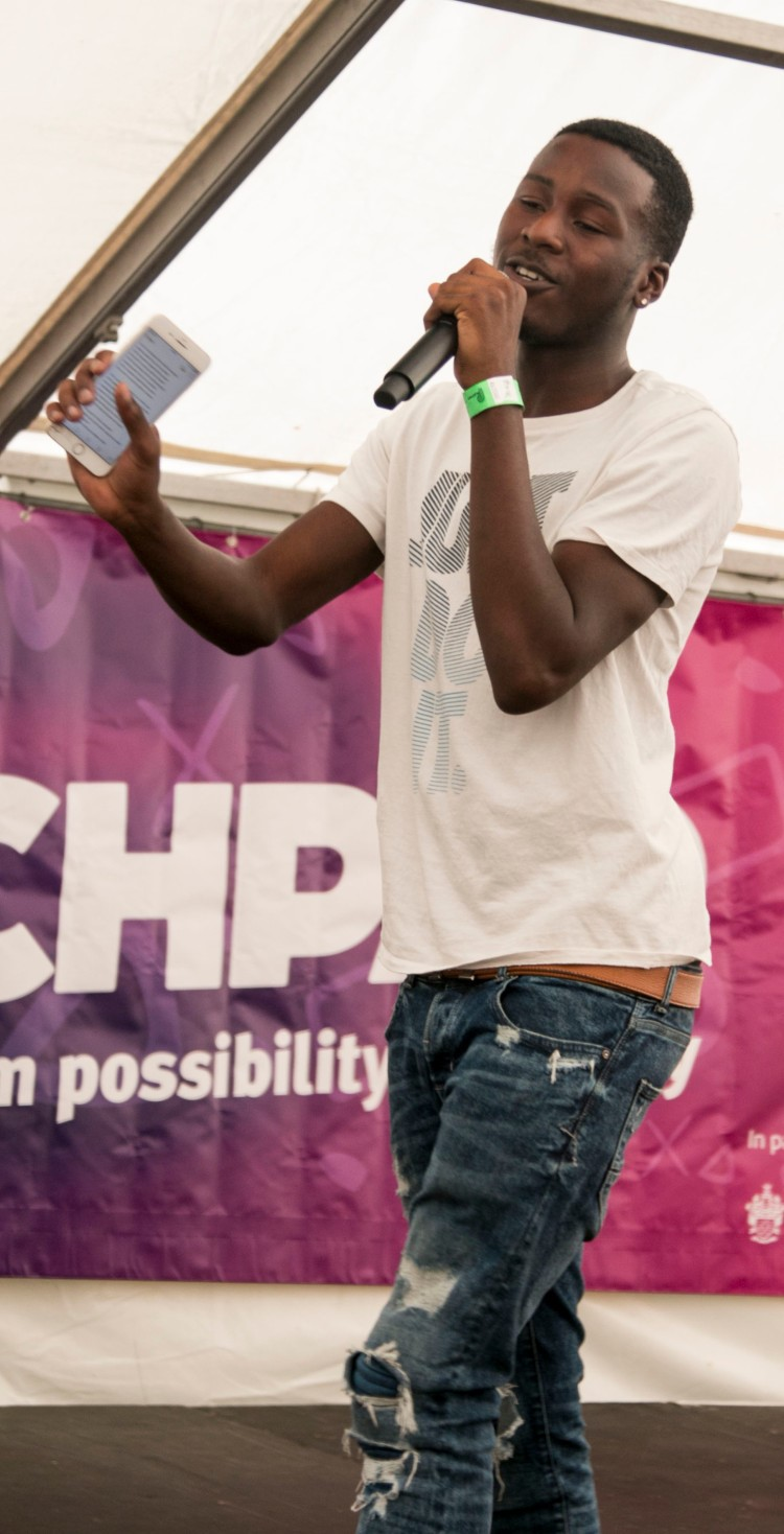 MC at Go Islington Festival